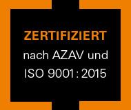 AZAV / ISO 9001:2015